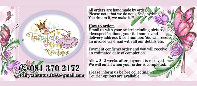 FAIRYTALE TUTUS BOUTIQUE - Businesses in South Africa